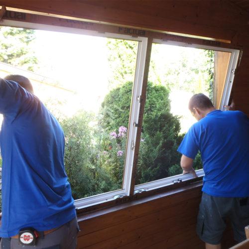 Einpassen des neuen Fensters